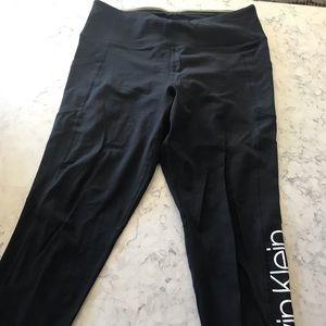 Black Calvin Klein Capri Leggings